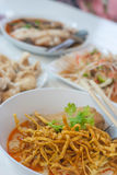 Chicken Khao Soi. Khao soi or khao soy is a Burmese-influenced dish served widely in northern Laos and northern Thailand royalty free stock images