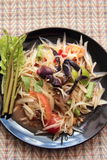 Papaya salad. Spicy thai food royalty free stock photography