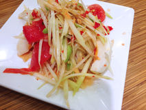 Papaya salad , spicy thai food Royalty Free Stock Photo
