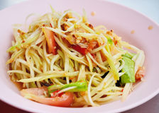 Papaya salad or Sum-Tam, Thai spicy salad Stock Photography