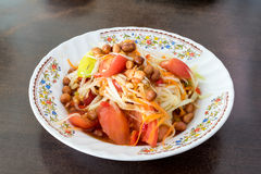 Papaya Salad, Thai call Som tum the most famous thai salad com. Papaya Salad, Thai call Som tum royalty free stock images