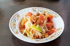 Papaya Salad, Thai call Som tum the most famous thai salad com Royalty Free Stock Photo