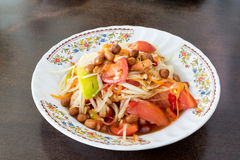 Papaya Salad, Thai call Som tum the most famous thai salad com. Papaya Salad, Thai call Som tum stock image