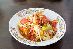 Papaya Salad, Thai call Som tum the most famous thai salad com. Papaya Salad, Thai call Som tum stock photos