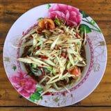 Papaya salad. Thai call somtum Stock Images