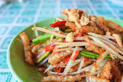 Papaya Salad. This is Thai cuisine somtam or papaya salad stock images