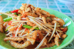 Papaya Salad. This is Thai cuisine somtam or papaya salad royalty free stock photography
