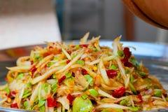 Papaya salad.Thai favorite food.  stock photo