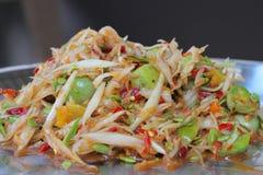 Papaya salad.Thai favorite food.  stock photos