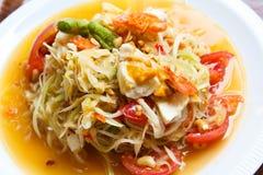 Papaya salad, Thai food. Papaya salad, popular of thai food stock photo