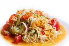 Papaya salad, Thai food. Papaya salad, popular of thai food Stock Images