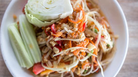 Papaya salad. Thai food call name thai is som tam stock photography