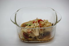 Papaya salad. Are Thai food  delicious and   spicy Royalty Free Stock Photography