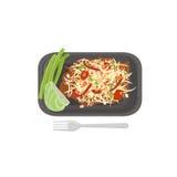 Thai food Papaya Salad  Stock Photos