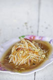 Papaya salad, Thai food menu Stock Image