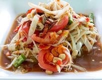 Papaya Salad,Thai food. Papaya Salad,Thai Som Tam with crab Royalty Free Stock Photo