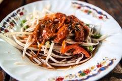 Papaya salad Thai food. Som Tum Thai food or papaya salad Stock Photos