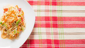 Papaya salad. Thai food.Papaya salad (Som tum) from above Stock Image