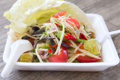 Papaya salad, Thai food Som Tum. Papaya salad, Thai food name Som Tum Royalty Free Stock Photo