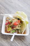 Papaya salad, Thai food Som Tum. Papaya salad, Thai food name Som Tum Royalty Free Stock Image