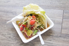 Papaya salad, Thai food Som Tum. Papaya salad, Thai food name Som Tum royalty free stock photos
