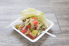 Papaya salad, Thai food Som Tum. Papaya salad, Thai food name Som Tum stock image