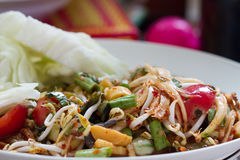 Papaya salad thai food Stock Image