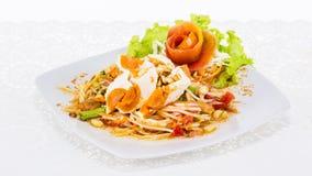 Papaya salad Thai food Stock Photos