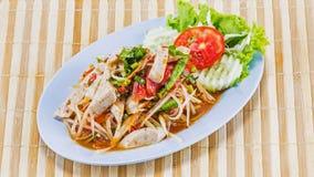 Papaya salad Thai food Royalty Free Stock Photos