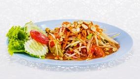 Papaya salad Thai food Stock Photography