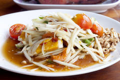Papaya salad thai food Royalty Free Stock Image