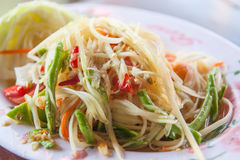 Papaya salad. Thai som tam Royalty Free Stock Image
