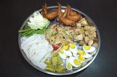 Papaya salad, Thai spicy food Royalty Free Stock Image