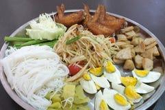 Papaya salad, Thai spicy food Stock Images
