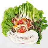 Papaya salad in thai style Stock Images