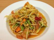Papaya salad in Thai style. Or Som tum from Thailand Stock Photo