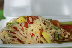 papaya salad. Royalty Free Stock Photo