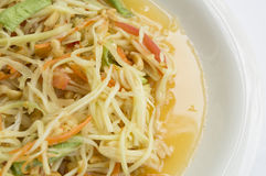 Papaya salad thai tradition healthy vegetable concept. Papaya salad thai tradition healthy vegetable Stock Photos