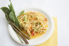 Papaya salad thai tradition healthy vegetable concept Stock Images
