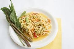 Papaya salad thai tradition healthy vegetable concept. Papaya salad thai tradition healthy vegetable Stock Images