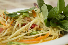 Papaya salad thai tradition healthy vegetable concept Royalty Free Stock Photography