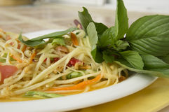 Papaya salad thai tradition healthy vegetable concept. Papaya salad thai tradition healthy vegetable stock image