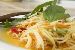 Papaya salad thai tradition healthy vegetable concept. Papaya salad thai tradition healthy vegetable stock photography