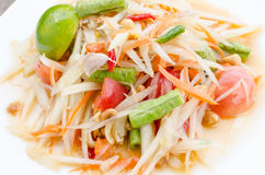 Papaya salad. Thailand food call som tum Thai Stock Photos