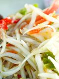 Papaya salad. Thailand healthy food stock images