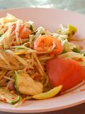Papaya salad. Thailand healty food stock photos