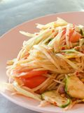 Papaya salad. Thailand spicy healthy food royalty free stock photo