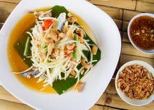 Papaya salad. Traditional spicy Thai food.Som-Tum Royalty Free Stock Photos