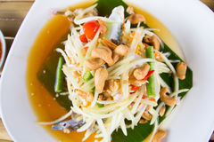 Papaya salad. Traditional spicy Thai food.Som-Tum Stock Photography