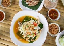 Papaya salad. Traditional spicy Thai food.Som-Tum Stock Photos